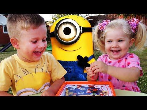 ★ Игра ОПЕРАЦИЯ МИНЬОНЫ Игры для Детей Кубик-Сюрприз Unboxing New Toys Minions Surprise for Children