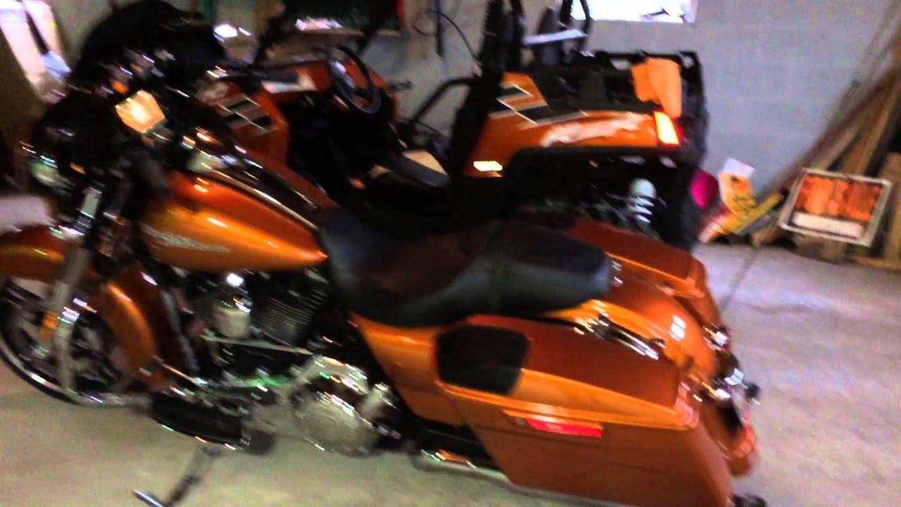 2014 Amber Whiskey Harley Davidson Street Glide Boom Audio Full Up Grade Review