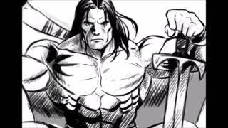 Drawing Conan the Barbarian/Desenhando Conan o Bárbaro