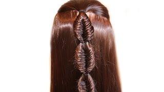 Kos fish tail ❤Pletenie braid ❤Prichёska for medium / long hair, hairstyles for girls in school