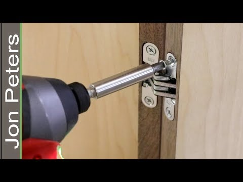 How To Hang Cabinet Doors With The Soss Invisible Hinge Youtube