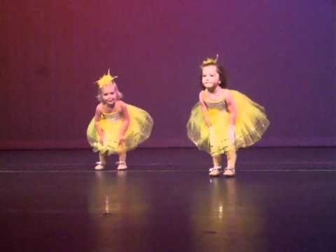 Adorable and funny two year old dance recital.  'You Are My Sunshine'