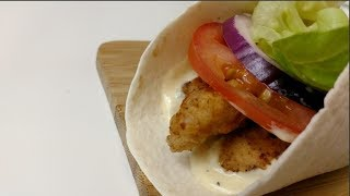 How To Make Chicken Strips Wrap Crispy Chicken Wrap Youtube