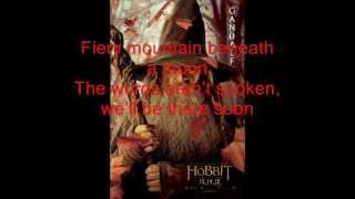 The Hobbit - Song of the Lonely Mountain with lyrics by Neil Finn