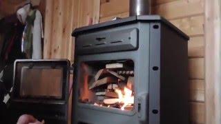 видео Дровяные чугунные печи для дачи и частного дома