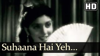 Suhaana Hai Yeh Mausam Salona Hai - Footpath Songs - Dilip Kumar - Meena Kumari - Asha Bhosle