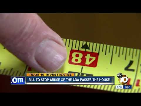 Bill to stop abuse of the ADA passes the House