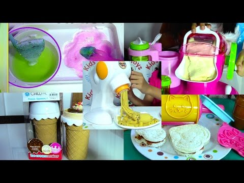Thumbnail: Ice Cream Maker, Sandwich, Pasta Maker and Popin Cookin Compilation - Kids' Toys