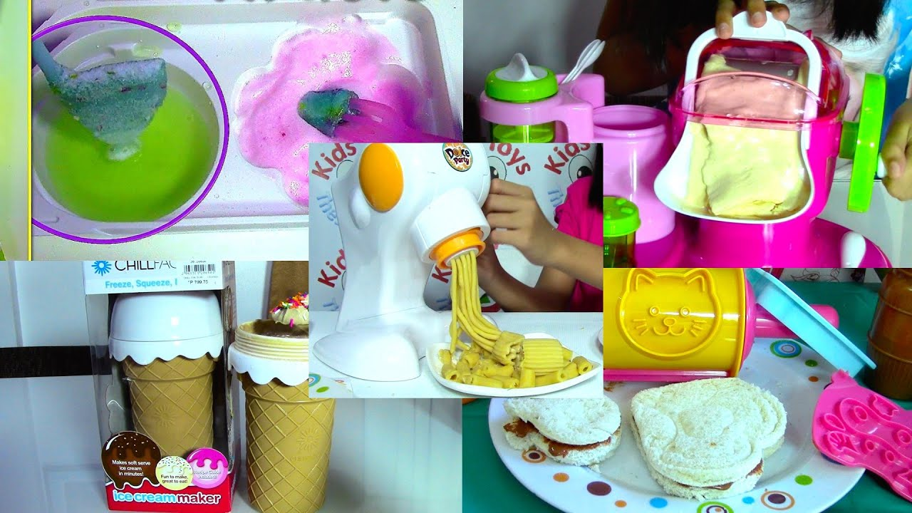 Ice Cream Maker Sandwich Pasta Maker and Popin Cookin