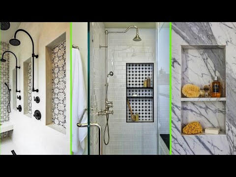 Modern Bathroom shower niche ideas | Recessed wall shelf designs for perfect bathroom