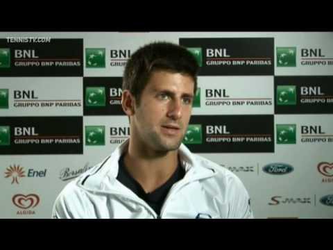 Novak Djokovic Discusses His Rome 2010 Opening Win