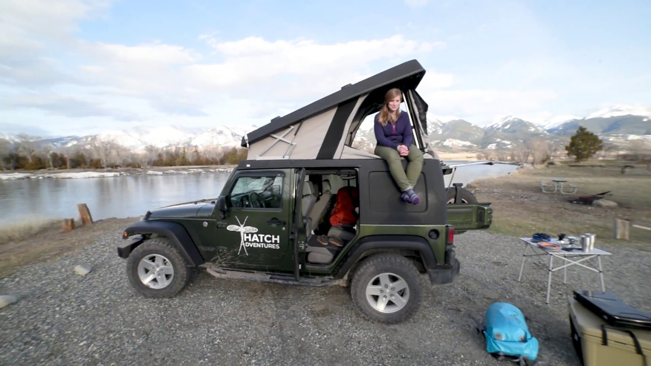 hatch adventures jeep wrangler ursa minor camper set up. Black Bedroom Furniture Sets. Home Design Ideas