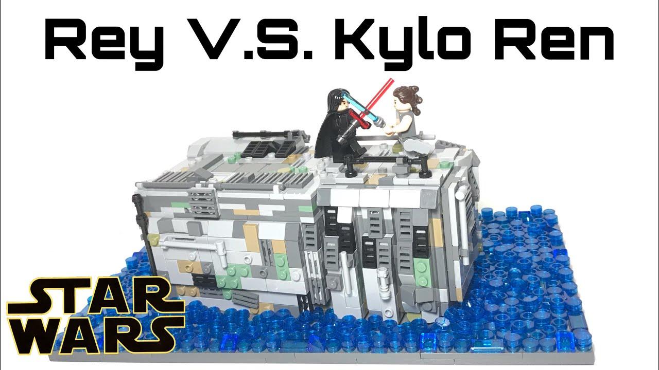 Lego Star Wars Rey V S Kylo Ren On Death Star Wreckage Episode Ix Youtube