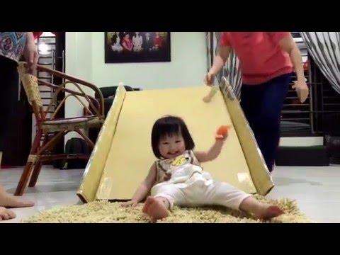 DIY recycle cardboard slide