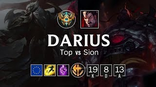 Darius Top vs Sion   EUW Challenger Patch 8.24
