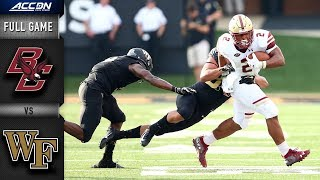 Boston College vs Wake Forest Full Game | 2018 College Football