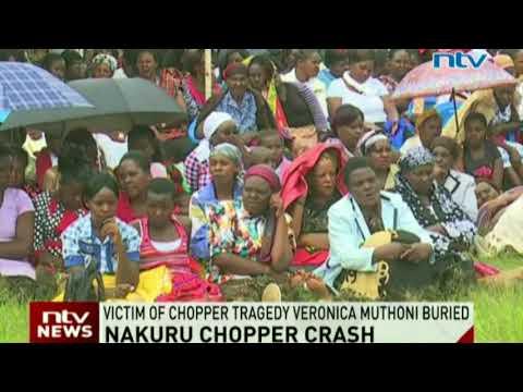 Victim of Nakuru chopper crash Veronica Muthoni buried