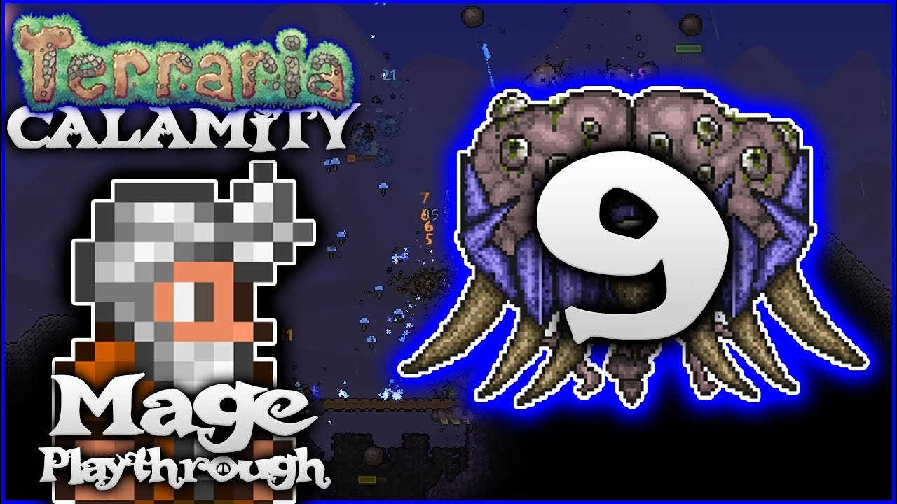 🌟 Hive Mind, Meteorite & Magic Upgrades! | Terraria 1 3 5 Calamity Mod  Mage Let's Play [Episode 9]