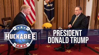 gov mike huckabees full interview with president trump tbn