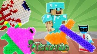 Обзор игры Террария со Стивом Майнкрафт! Видео для мальчиков.