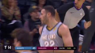 Larry Nance Jr Dunks On Mason Plumlee! Denver Nuggets Vs Cleveland Cavaliers