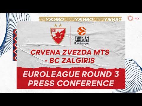 Press Conference, EuroLeague Round 3 | Crvena zvezda mts - Zalgiris