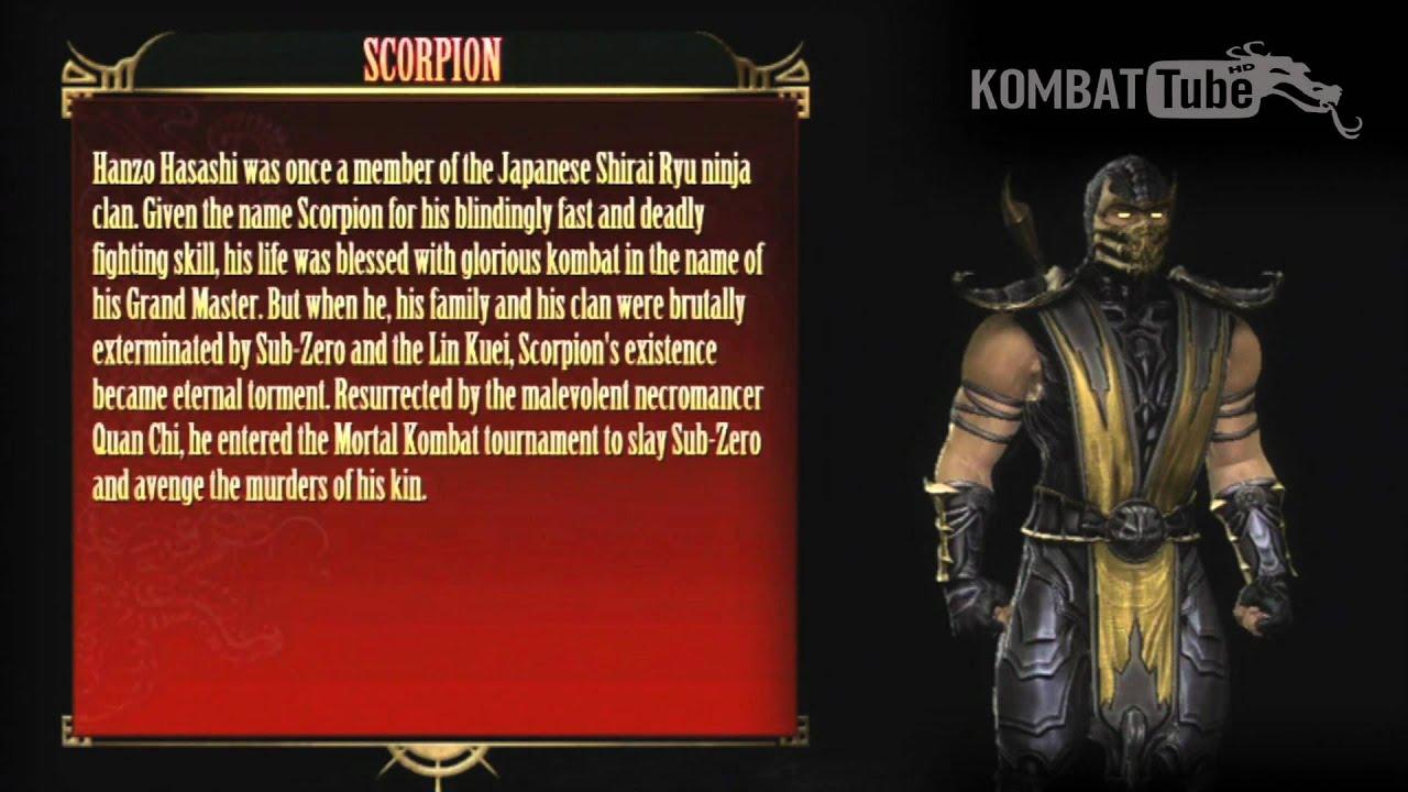 Mortal Kombat, Scorpio. Character Biography