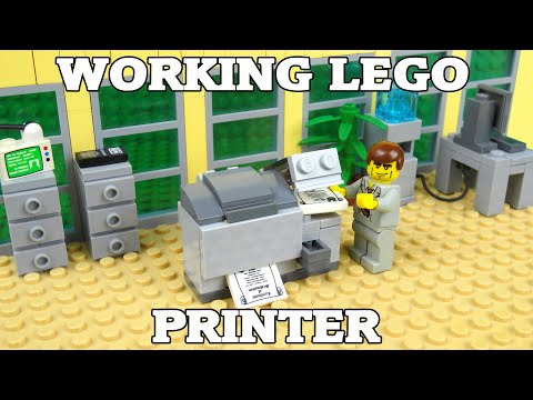 How To Build A Working Lego Printer & Photocopier