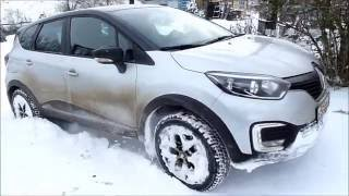 Рено Каптюр на снегу Renault Kaptur on snow