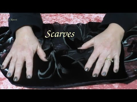Scarves ASMR Fabric Sounds Hand Movements