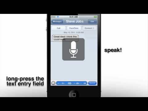 iOS 5 Concept Speech Recognition