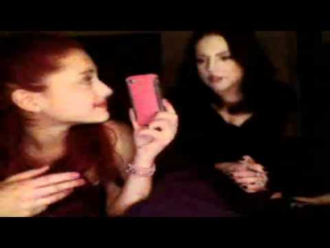 Liz Gillies and Ariana Grande (June 14,2012) Livechat