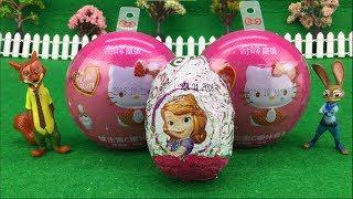 小公主苏菲亚奇趣蛋 凯蒂猫积木魔术蛋