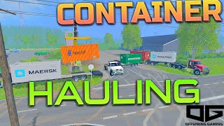 Farming Simulator 2015 - Shipping Container Trucking!