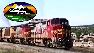 Santa Fe freight train through Castle Rock