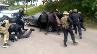 Жёсткое задержание ОМОНом.про спецназ антитеррора.