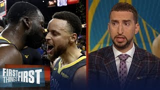 Warriors steal Game 2 from Blazers - Nick and Cris react | NBA | FIRST THINGS FIRST