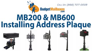 Budget Mailboxes | Mb200 & Mb600 Installing The Address Plaque