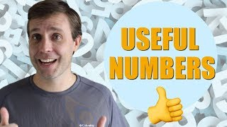 How to Say Useful and Difficult Numbers in English