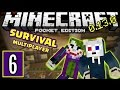 Minecraft pe 0.13.0: survival türkçe multiplayer #6 | pocket'a dönüş ve skin android