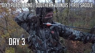 DIY Public Land Bow hunt with my Tree Saddle in Illinois - Day 3