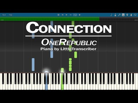 OneRepublic - Connection (Piano Cover) Synthesia Tutorial by LittleTranscriber
