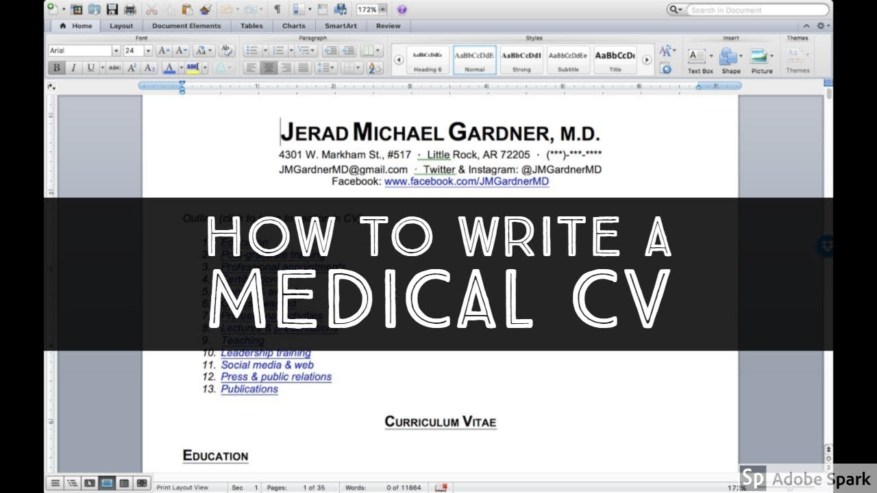 How to write a medical CV (including professional social media activity)