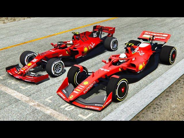 Simulator Predicting The Future Ferrari 2019 F1 Car V Ferrari 2021 F1 Car