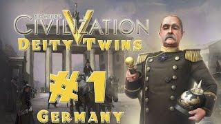 Civilization 5 | Deity Twins: Germany + Ottomans | Ep. 1