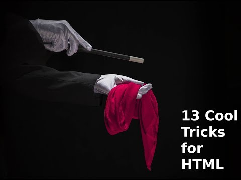 13 Cool Tricks For HTML | Learn HTML & CSS |  HTML Tutorial | HTML Skills | How to thumbnail