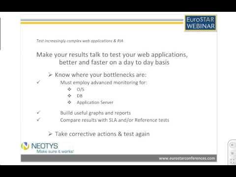 Load & Performance Testing of Web Applications & RIAs - EuroSTAR - Benoit Derouet