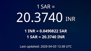 SAR TO INR | #Exchange Rates # Indian Rupees | #03-Apr-2020 | 04:30 pm | #Gulf tech
