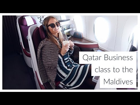 MALDIVES VLOG PART 1 - Qatar Business class & our St Regis water villa