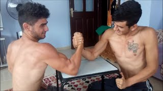 Teen Physique Model Turkish Wrestling, Arm Wrestling and Flexing Muscles